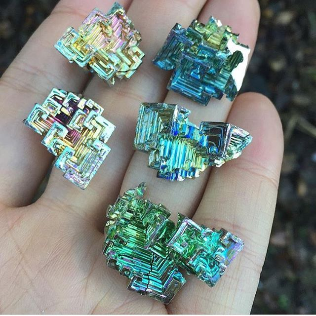 More rainbow bismuth sets are available now in the etsy shop at sweeeet discounted prices enchantedcrystal.com