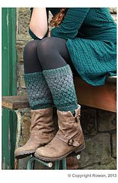 Ravelry: Slouchy Ankle Warmers pattern by Andrea McHugh