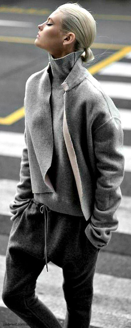 Comfy in three shades of grey.