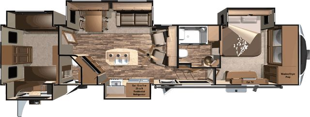 Open Range 3X 427BHS  42' Rear bunkhouse 5th wheel with outside kitchen - Sleeps 8