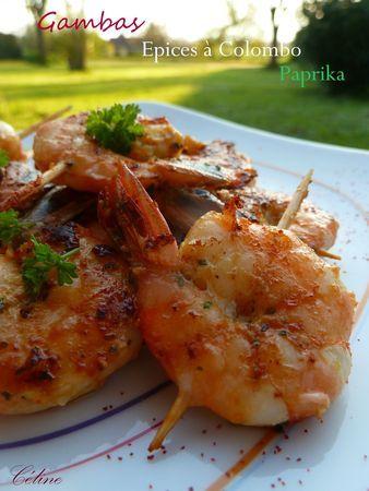 Gambas marinées (Blog Les Plaisirs de Céline). Plus de recettes de fruits de mer sur www.enviedebienmanger.fr