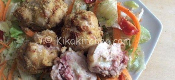Cosce di pollo ripiene al forno | Kikakitchen