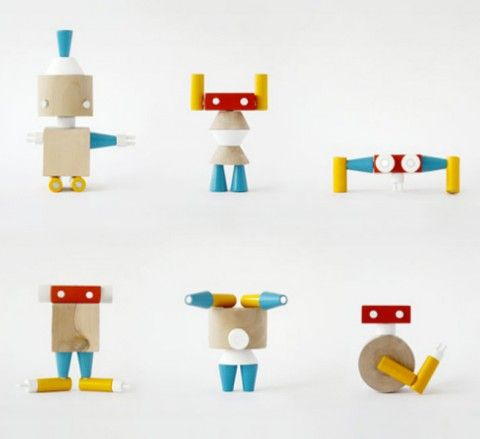 Robole - magnetic robot-building blocks. These make me so happy!