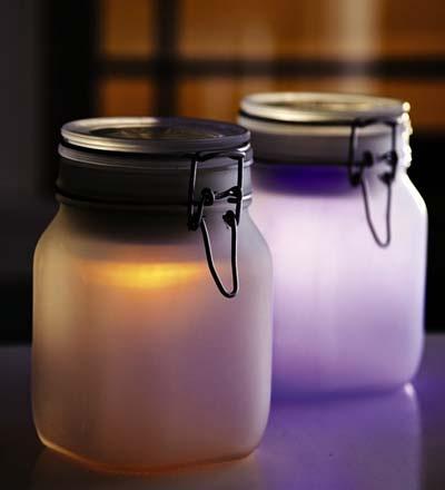 love this idea of a solar moon jar