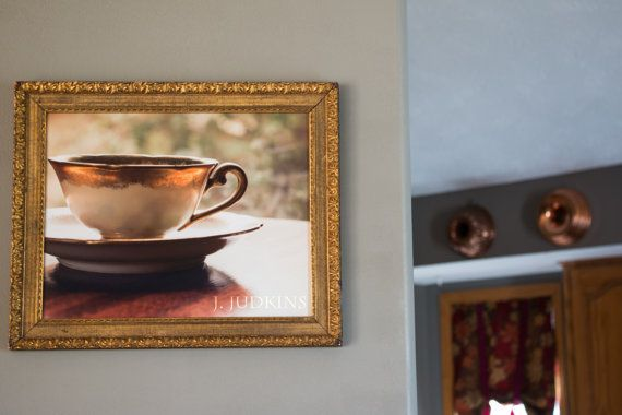 J. Judkins Design Studio - Etsy.com  VINTAGE FRAMED Teacup Photograph, Still Life Photography, Relaxing Images, Cafe Decor, Book Photography, Office Decor, Kitchen Dec