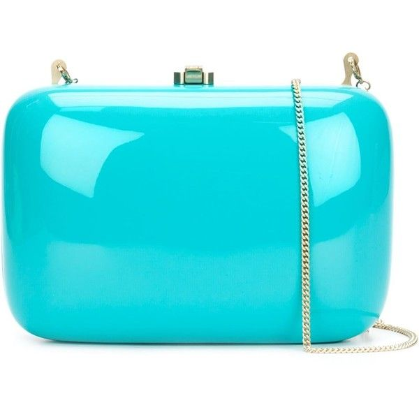 Rocio Clementine Clutch (7.339.495 IDR) ❤ liked on Polyvore featuring bags, handbags, clutches, blue, wood handbag, blue clutches, wooden purse, blue purse and rocio