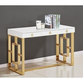 Shop for Lacquered Poplar Wood Writing Desk. Get free shipping at Overstock.com - Your Online Furniture Outlet Store! Get 5% in rewards with Club O! - 24807461