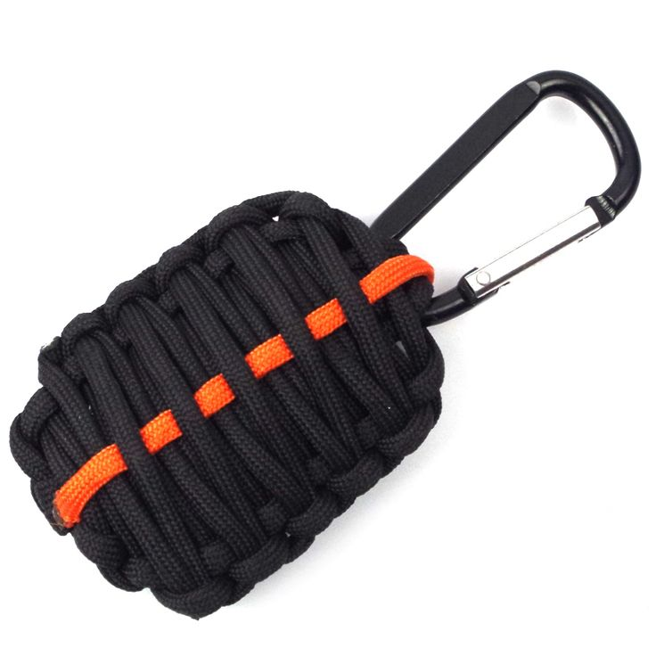 EDC 2016 NEW PSKOOK Outdoor Survival Kit 550 Paracord Weave Survival Grenade  fishing tools key chain Flint with Sharp Eye Knife
