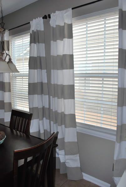 DIY painted curtains!