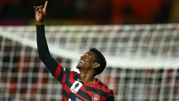 Golgol Mebrahtu earning WSW a place in Round 16 of the FFA Cup 11.08.15