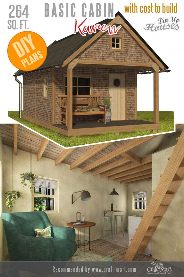 Awesome Small And Tiny Home Plans For Low Diy Budget Craft Mart Tiny House Plans House Plans Cabin Plans
