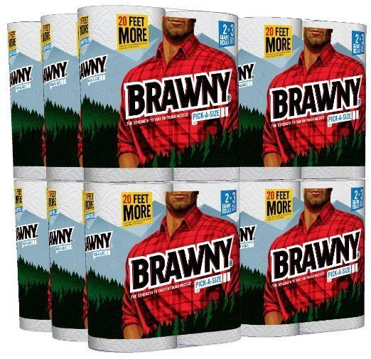 Brawny Pick A Size 24 Giant Roll Paper Towel Order in Bulk today and Save Money  #Brawny