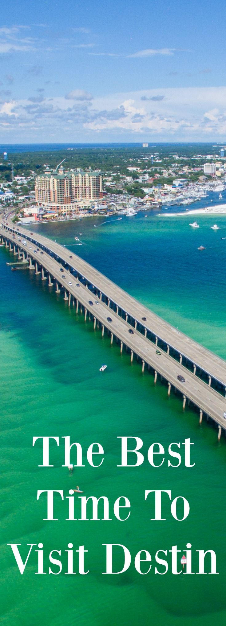 There are many factors to consider when deciding when the best time to visit Destin, Florida is. For some, the most important thing might be visiting while the weather is warm. Others might prefer a relaxing getaway that doesn't cost an arm and a leg, while some might plan their trip based on local events and festivals. No matter what your vacation preference is, we're shining a spotlight on this popular Florida destination and giving you tips on when to book your Destin rental.
