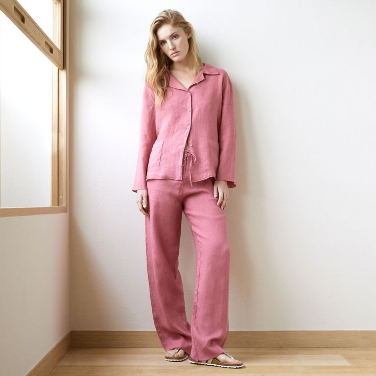 Koraalkleurige linnen broek - Alles bekijken - Homewear Dames - huiskleding | Zara Home Holland
