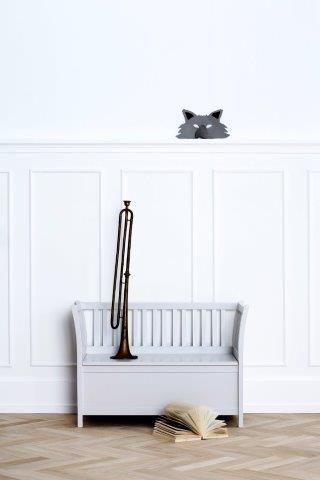 Kids Bench 'new grey' by Oliver Furniture.   www.oliverfurniture.com