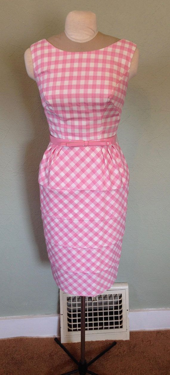 1960's Carnival Fashions Sleeveless Pink by tiffanyroseantiques
