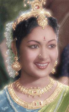 సావిత్రి కొమ్మారెడ్డి -Yesteryear's leading actress Savithri - (Nadigayar Thilagam)