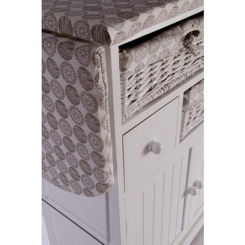 Mueble plancha madera blanco muebles para planchar en - Tu mueble online ...