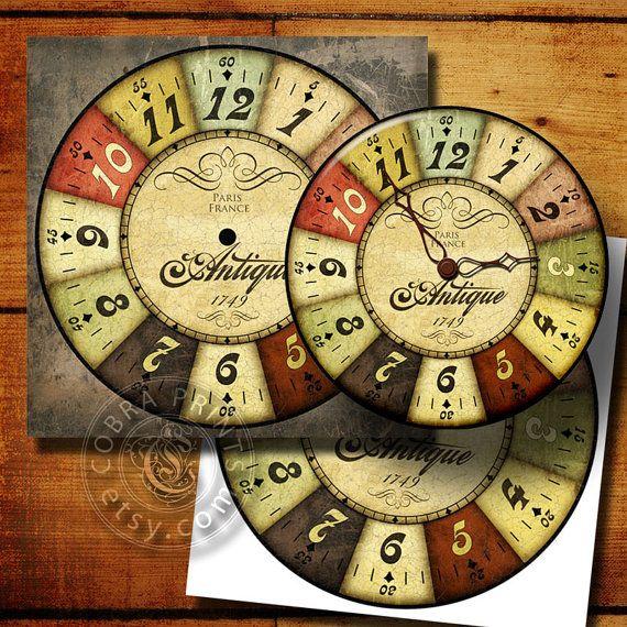 Vintage Style DIY Large Clock Face  12x12 Digital by CobraPrints, $3.50