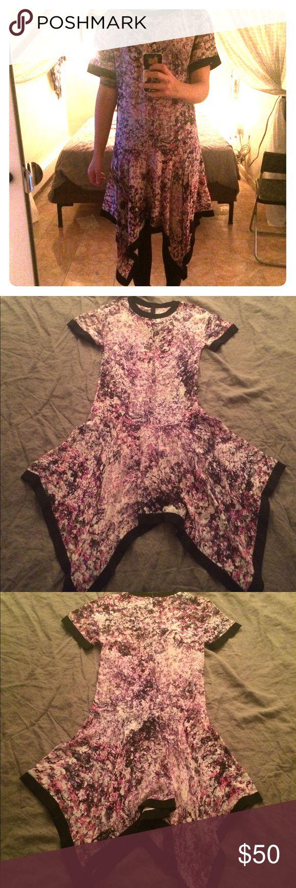 Prabal Gurung floral print dress -00% silk handkerchief hem floral print dress--relaxed easy fit. Made in New York Dresses Asymmetrical