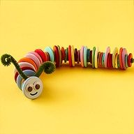 No use for that jar of buttons? Repurpose them by creating a friendly catterpillar friend!