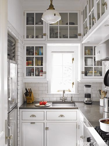 floor to ceiling cabinets - nice!