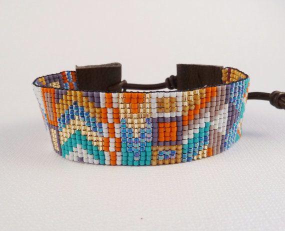 Beaded Friendship bracelet Tribal Boho Hand woven