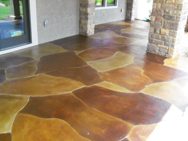 Stained concrete acid stained concrete floors for How to clean acid stain floors