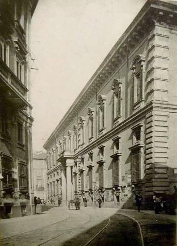 Milano, l'Accademia di Brera nel 1905.