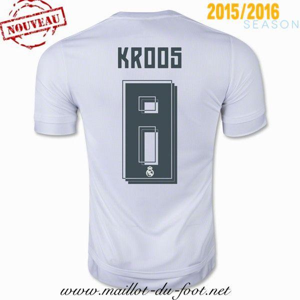 site officiel Maillot de foot Real Madrid KROOS 8 Domicile 2015 2016 decathlon