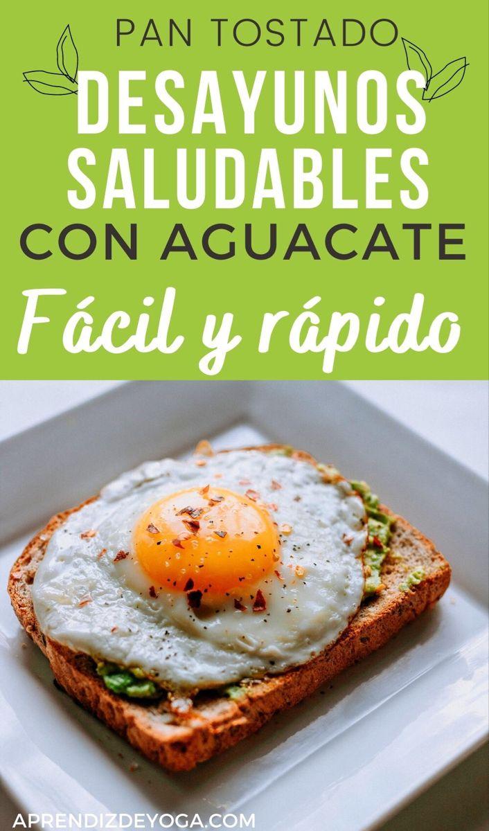 10 Recetas Pan Tostado Con Aguacate Pan Tostado Con Aguacate Desayuno Saludable Fácil Desayuno Saludable