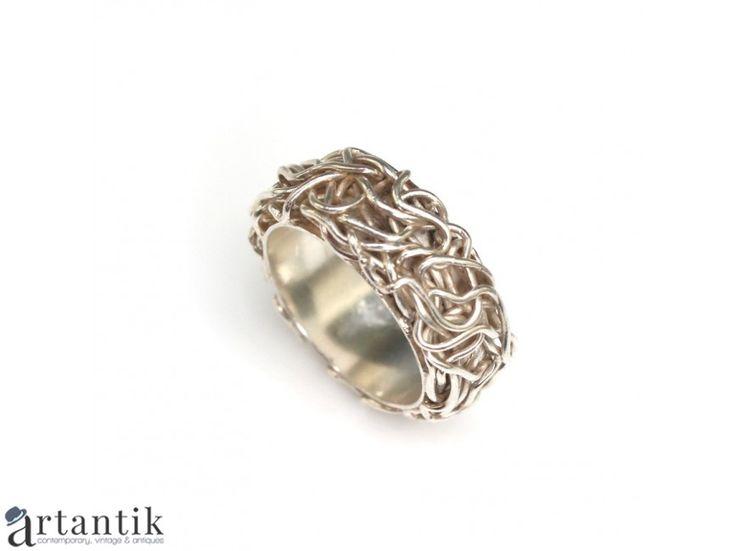 Inel-verigheta din argint - Coroana Mantuitorului - Devine