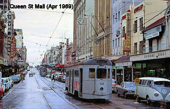 Queen street before it became a mall  Brisbane