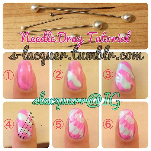 NEEDLE DRAG TUTORIAL  You will need: two or more polishes and a needle!