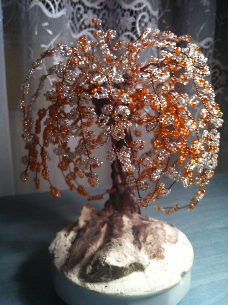 Saját készítésű gyöngyfa!
