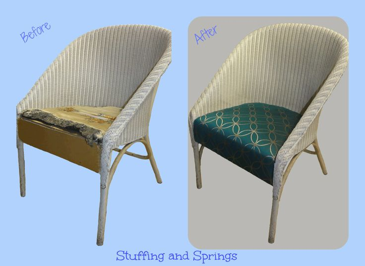 Lloyd Loom style chair reupholstered & recovered Re-upholstered furniture by Stuffing and Springs (www.facebook.com/stuffingandsprings)