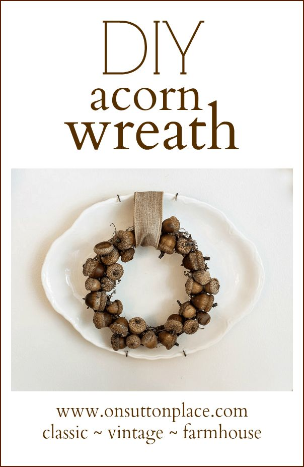 Simple and inexpensive, these DIY Acorn Wreaths make decorating with natural elements so easy!