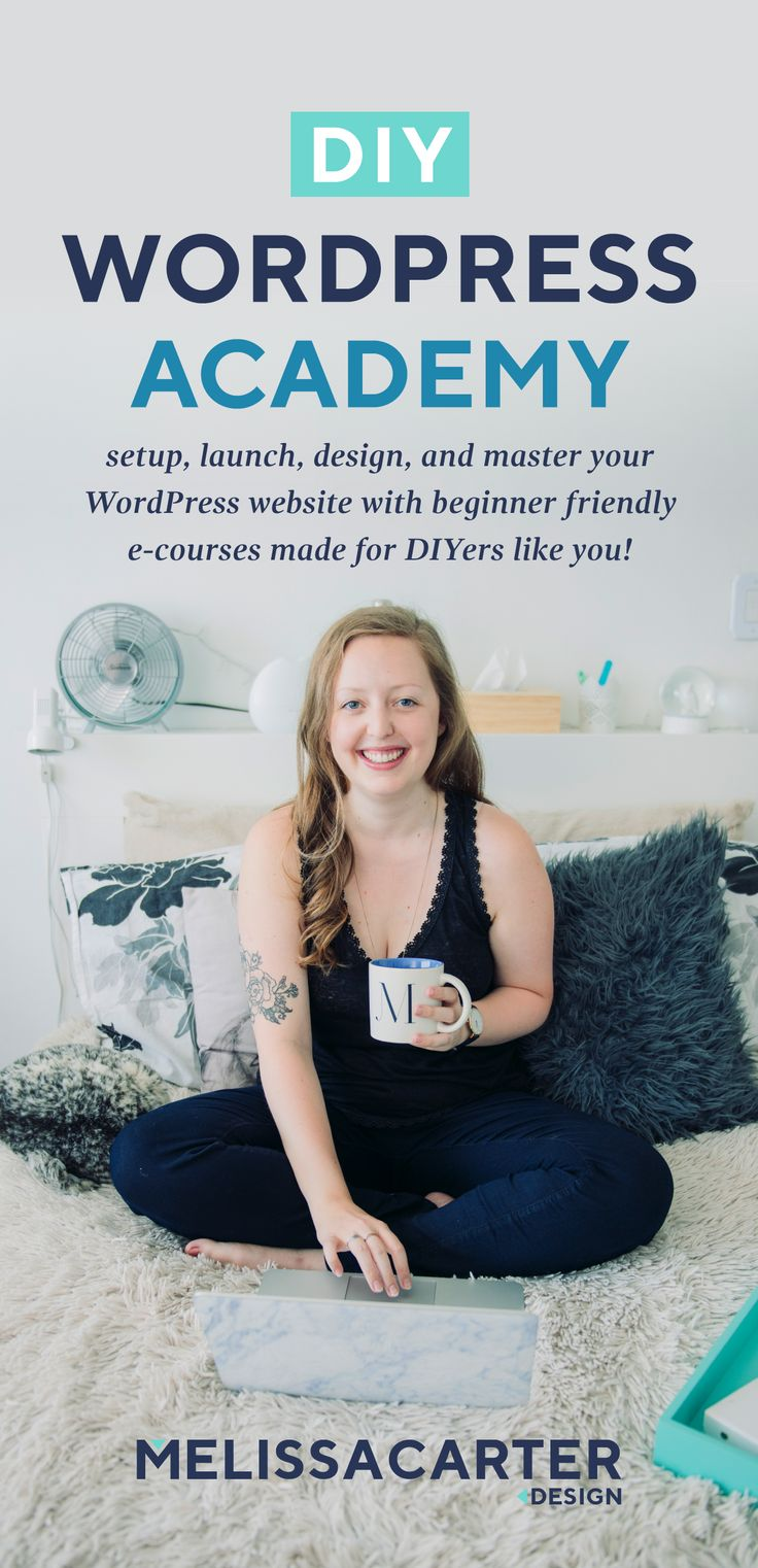 Setup, launch, design, and master your WordPress website with beginner friendly e-courses made for DIYers like you!