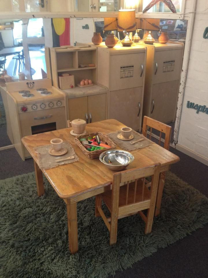Toddler Classroom Design Ideas ~ Cozy kitchen area image shared by renee smith