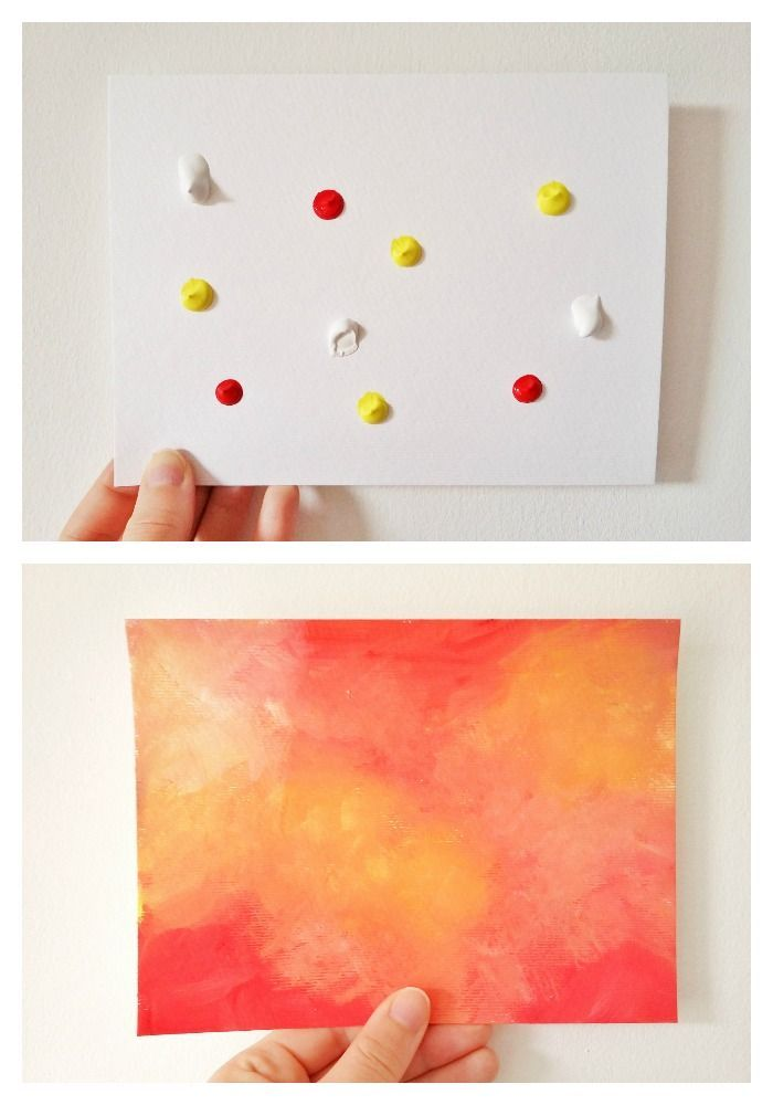 This Easy Abstract Acrylic Painting Is As Simple Squeezing Blobs Of Paint Onto The Paper Or Canvas And Then Blending Them Together Click Through To Read