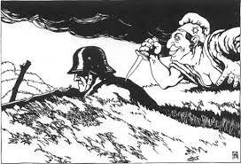 """""""La puñalada por la espalda"""" de los judíos a los alemanes, teoría de los alemanes que sitúaba a los judíos como unos de  los causantes de la pérdida de la Primera Guerra Mundial"""