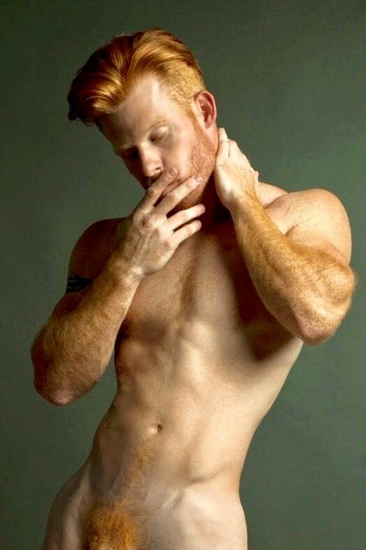 nude red head men