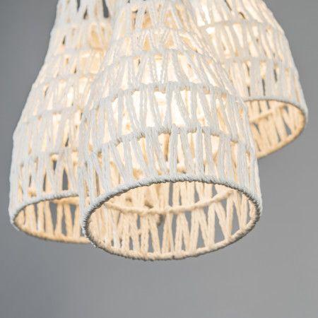 Lampa wisząca Lina 3 biała