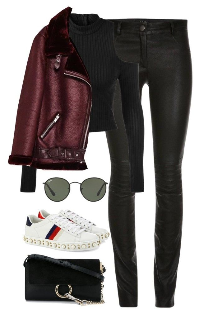 """""""Untitled #4380"""" by magsmccray on Polyvore featuring ElleSD, Ray-Ban, Gucci and Chloé"""