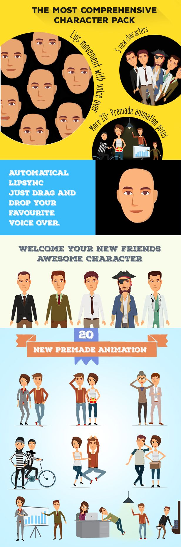 Character Design Animation Toolkit After Effects Project : Best images about after effects templates on pinterest