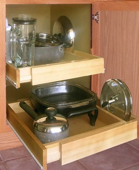 Kitchen Cabinet Pull Ideas: Shelf On Wheels Expandable Pull-Out