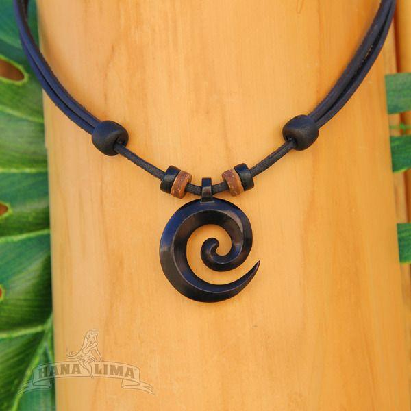 Weiteres - Goa Halskette m Koru Holz Anhänger aus Neuseeland  - ein Designerstück von HANA_LIMA bei DaWanda