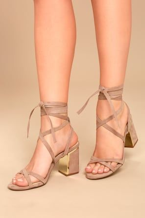 d140867a3bc Steve Madden Christey Light Pink Suede Leather Lace-Up Heels in 2019 ...