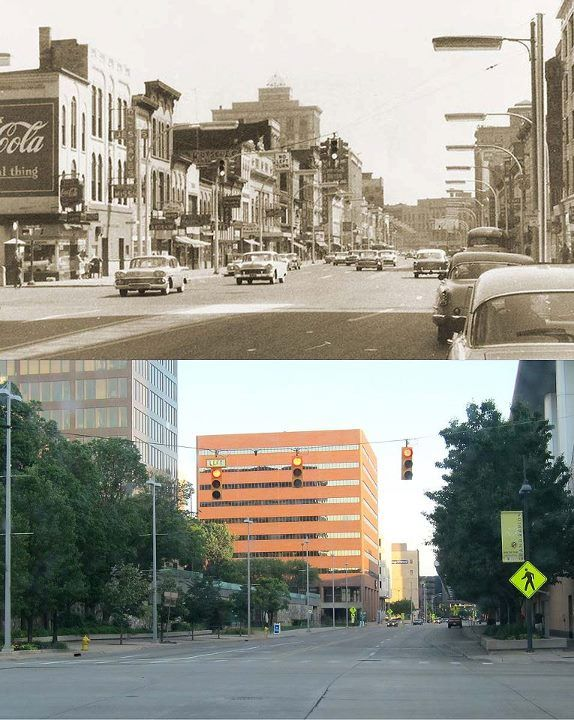 Monroe and Michigan 1950s and 2012