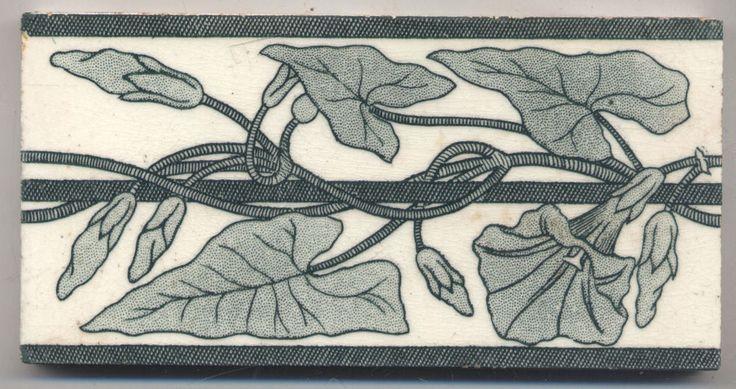 Super rare Ernst Teichert  Winden  Jugendstil  Fliese  art  nouveau tile